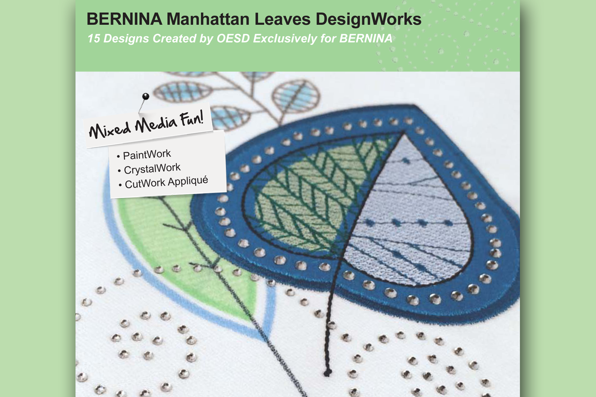 Manhattan Leaves DesignWorks– BERNINA DesignWorks Collection #21024