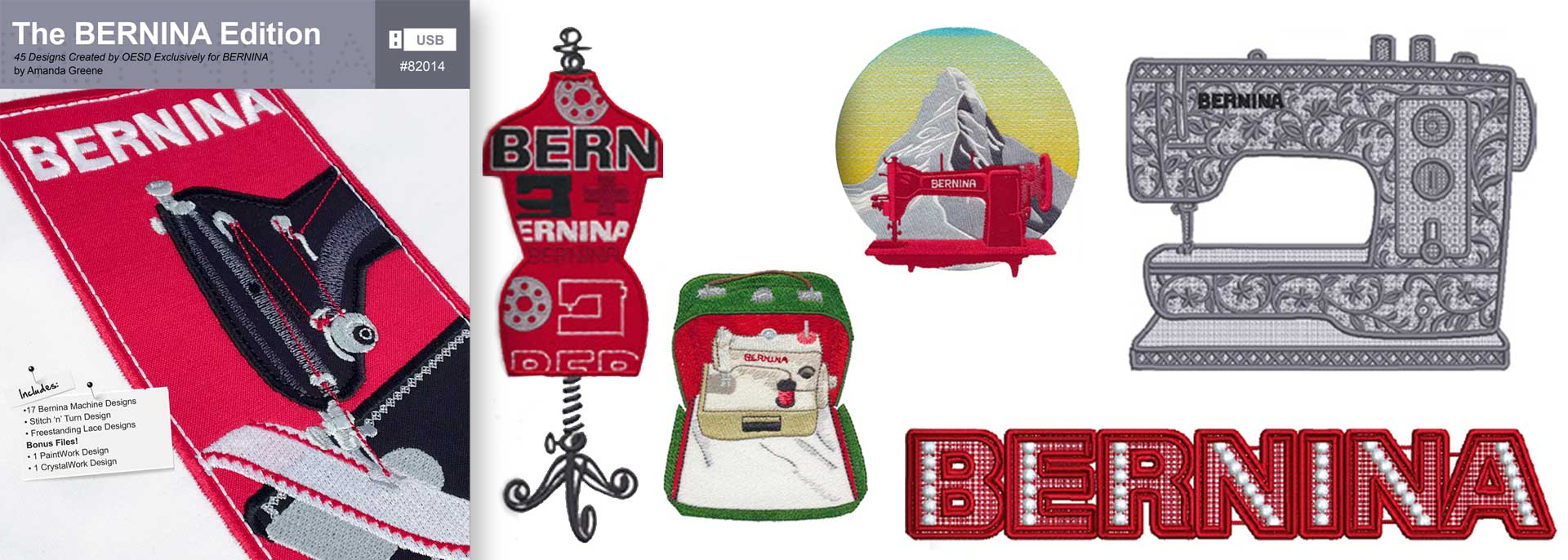 The BERNINA Edition – BERNINA Exclusive Embroidery Collection #82014