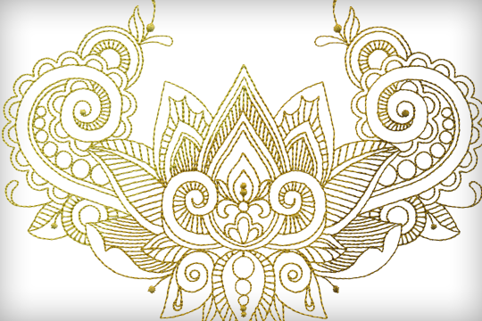 Mehndi Machine Embroidery Designs