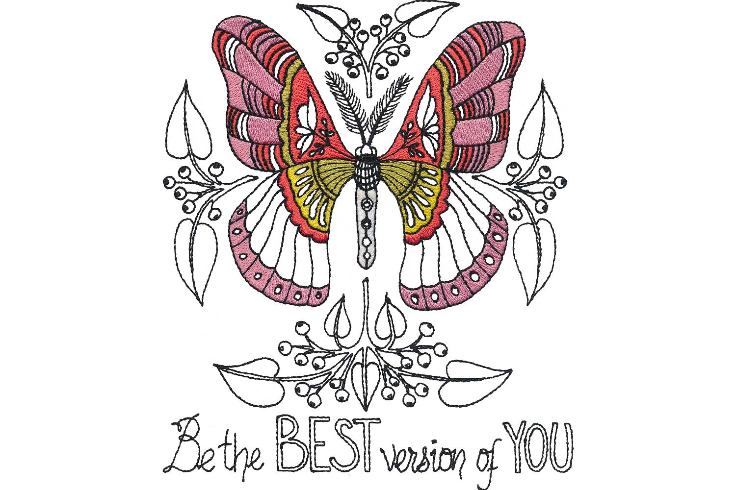 Picture: Words of Wisdom BERNINA Exclusive Embroidery Collection 80133  16/27