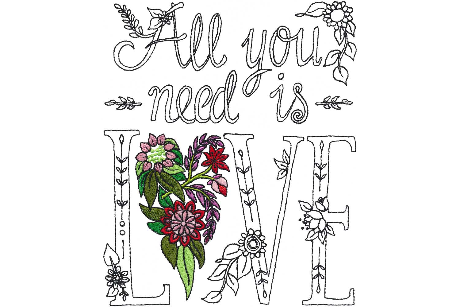 Picture: Words of Wisdom BERNINA Exclusive Embroidery Collection 80133  7/27