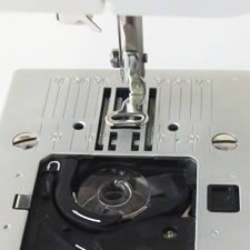 Needle thread monitoring and bobbin thread checking