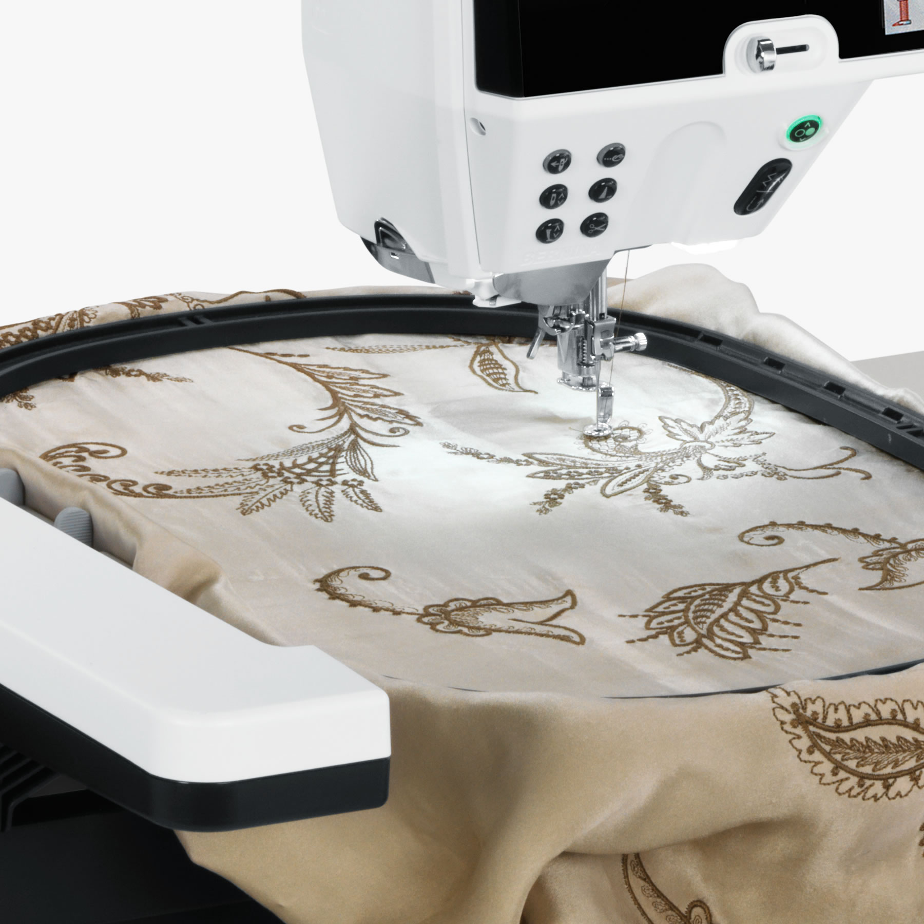 Extensive stitch and design library