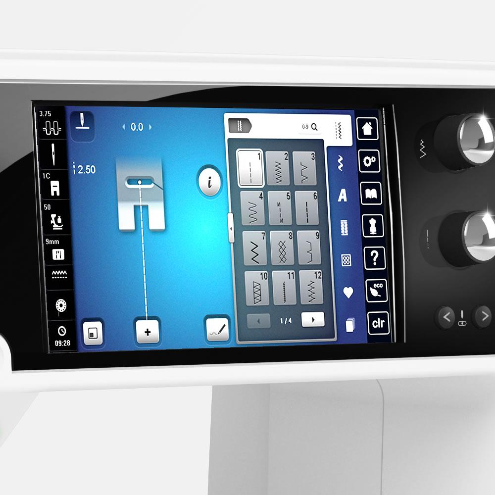 Moderna pantalla táctil en color
