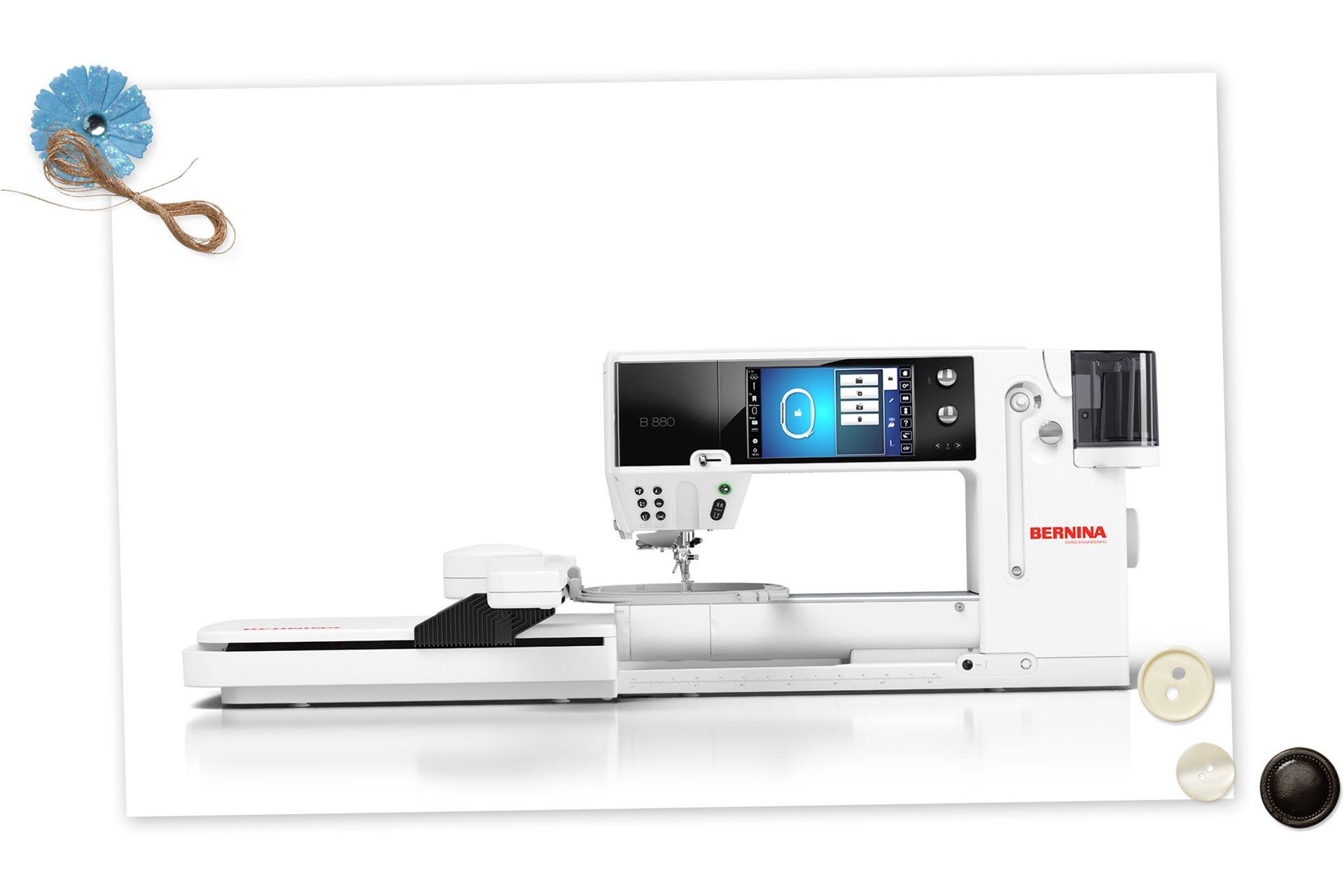 Maquina de coser y bordar Bernina 880 - www.jmartinezsl.com